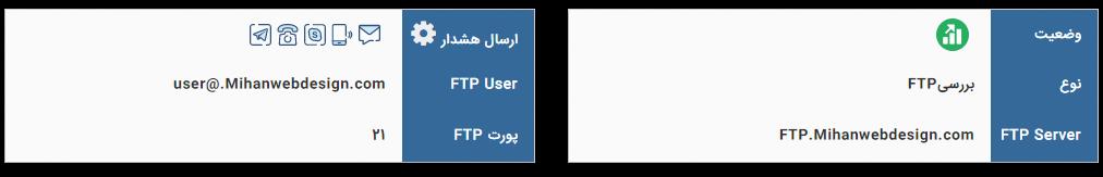 مشاهده پایشگر FTP در میهن مانیتور